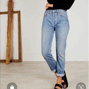High Waist Vintage 501 Levi's Button Up Jeans!